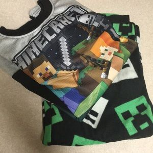 Boys Minecraft PJ set. Never worn